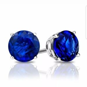 Blue Sapphire Earrings.